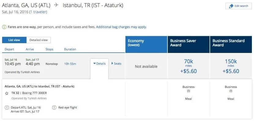 Interestingly, you can still book flights from the US to Turkey — even for travel today.