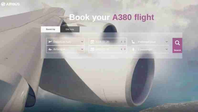 Quickly and easily find flight options with legs on the Airbus A380 through Airbus