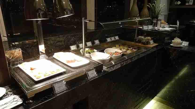 Self-serve snacks, salad, and soup.