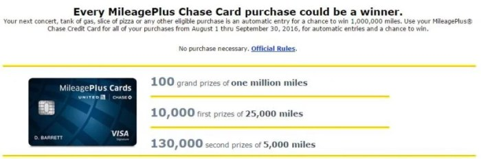 Over 140,000 prizes will be given away, totaling one billion United miles.