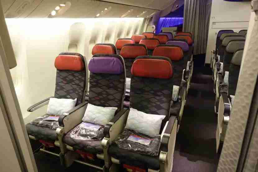 A shot of the side seats in economy space +
