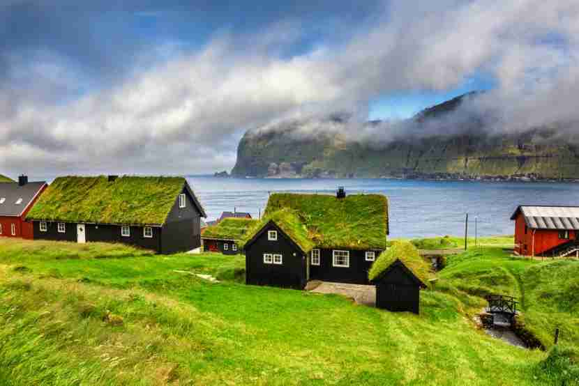 Even the houses grow their own wool, of a sort. Image courtesy of Shutterstock.