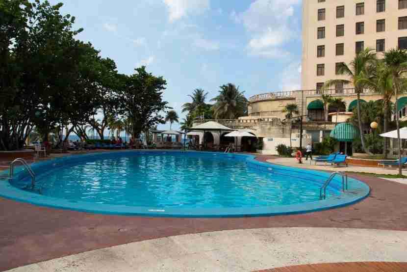 The pool at the Hotel Nacional.