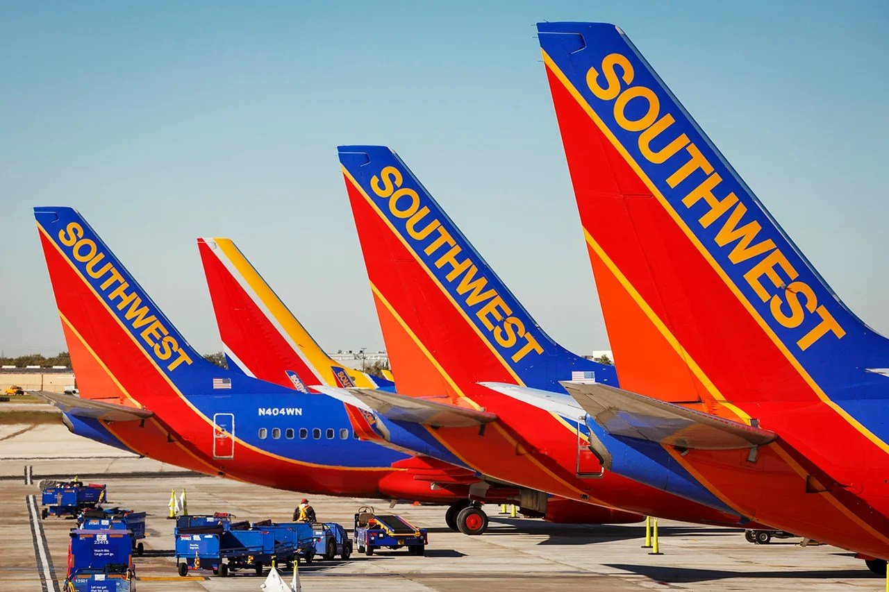 southwest airlines boeing 737 planes prepare for takeoff at william p hobby international airport in - Southwest Airlines Visa Card