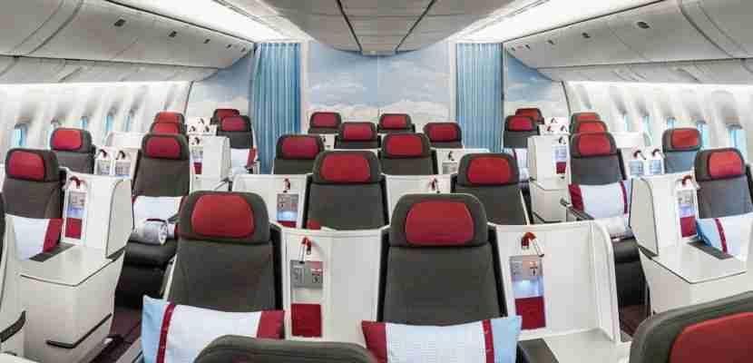 New Austrian business class is on all long haul flights.