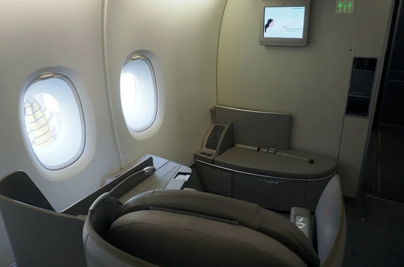 My seat aboard the A380 from JFK-CDG.