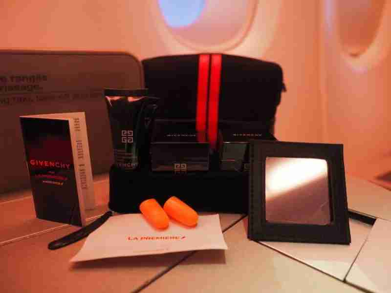 I was really impressed with the Givenchy amenity kit.