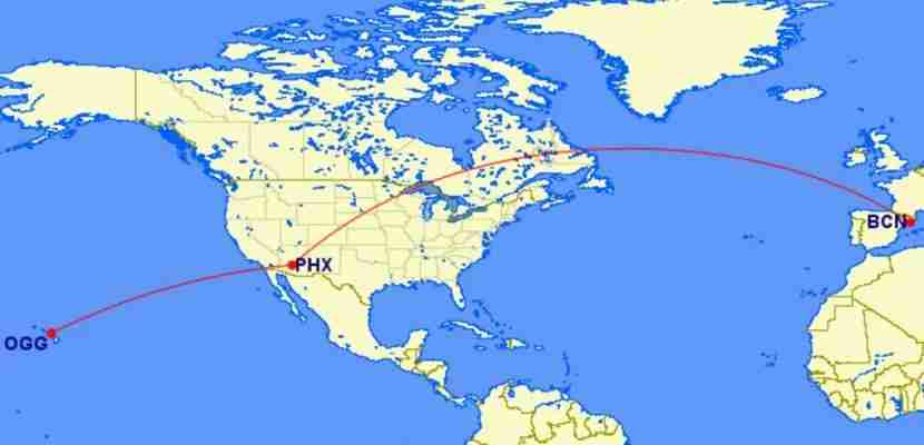 Tack on a one-way flight to Hawaii for just 5,000 miles more than the round-trip to Europe.