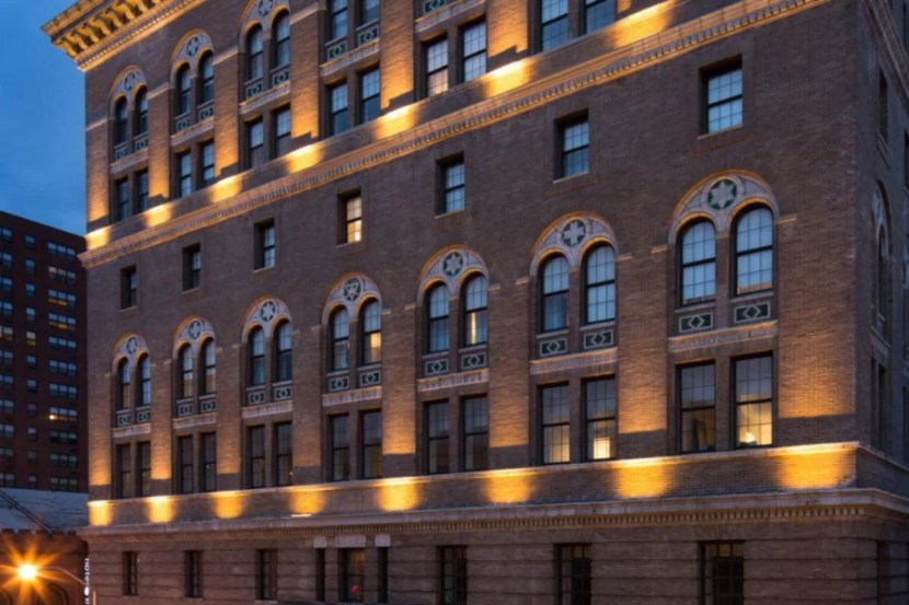The Hotel Indigo Baltimore Downtown, located in a former YMCA building.