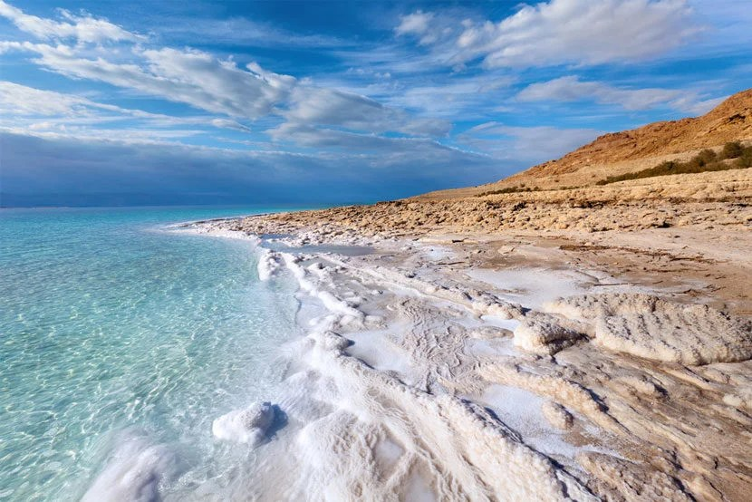 "Bar Yehudi is located along the Dead Sea in Israel just a few miles from Massada. Image courtesy of <a href=""http://www.shutterstock.com/pic-87120142/stock-photo-view-of-dead-sea-coastline.html?src=Xsw25dVvU3j4OwADlEypsQ-1-0"" target=""_blank"">Shutterstock</a>."