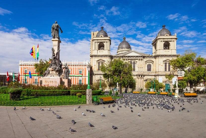 "Metropolitan Cathedral in La Paz, Bolivia. Image courtesy of <a href=""http://www.shutterstock.com/pic-361437542/stock-photo-metropolitan-cathedral-is-located-on-plaza-murillo-square-in-la-paz-bolivia.html?src=azjkdXFDFotLLxt7B0bV6w-1-1"" target=""_blank"">Shutterstock</a>."