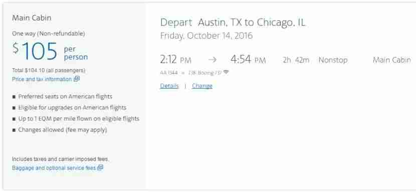 American Airlines is now stating benefits that shouldn