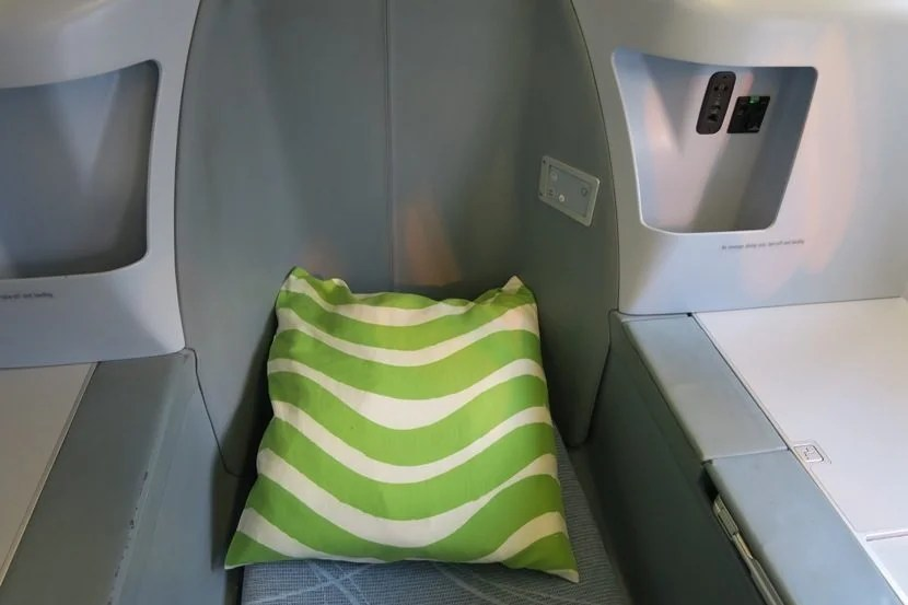 In-seat storage and controls.