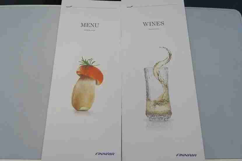 There were separate menus for food and drinks.