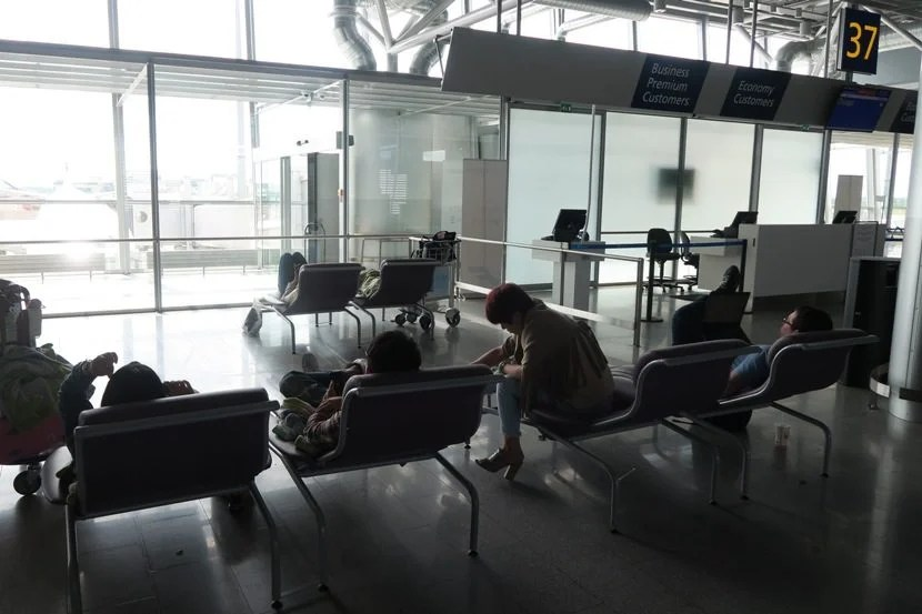 Passengers who don't have a lie-flat seat on-board might enjoy grabbing some sleep at the gate before the flight.