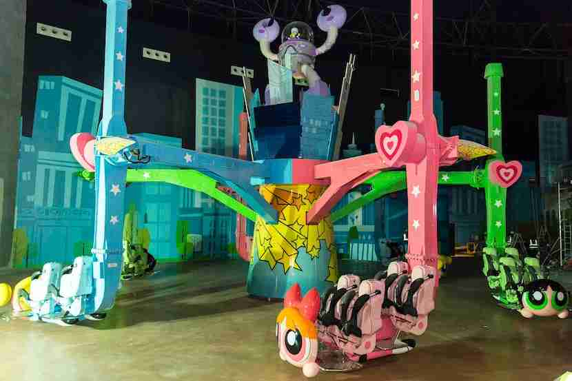 The Powerpuff Girls are in Dubai. Image courtesy of IMG Worlds of Adventure.