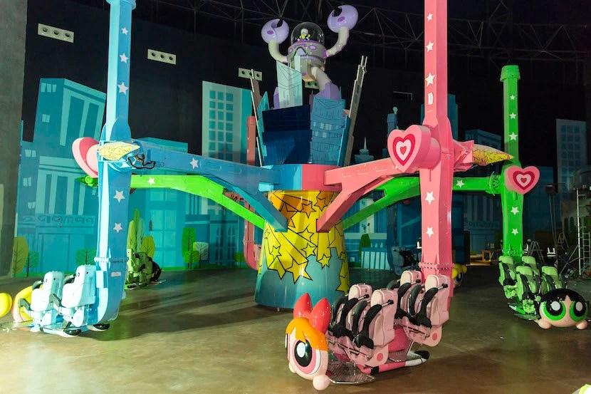 The Powerpuff Girls are in Dubai. Image courtesy of IMG Worlds of Adventure.