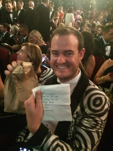 Another fun moment was when host Jimmy Kimmel had peanut butter and jelly sandwiches distributed to the audience, courtesy of his mother.