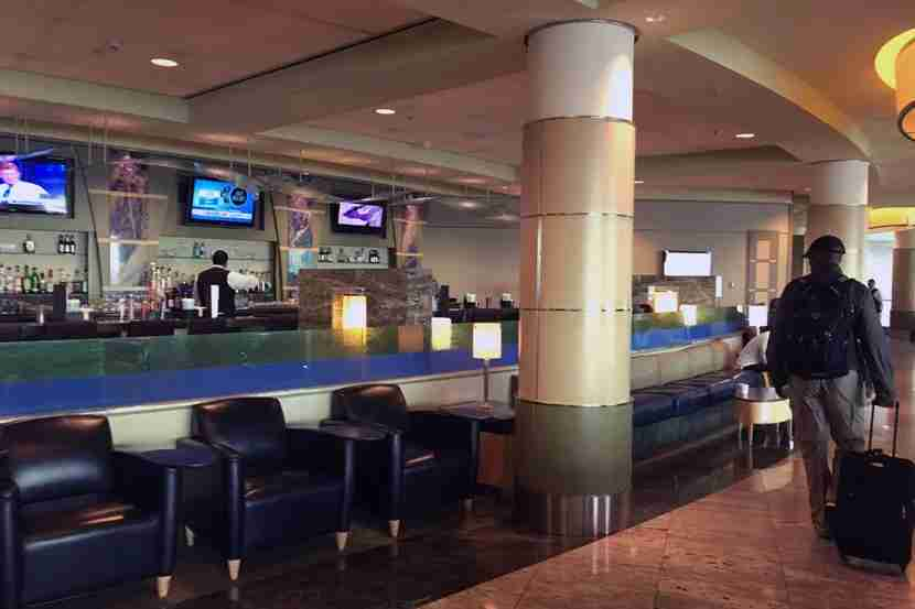 A peek inside the recently renovated Admirals Club at MIA.