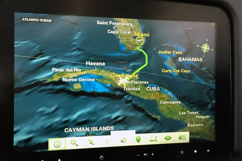 Our flight from Miami to Cienfuegos was only 49 minutes long.
