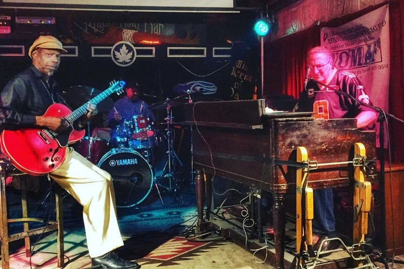 """Seeing a show at Maple Leaf Bar is a truly iconic New Orleans experience. Image courtesy of Maple Leaf Bar's <a href=""""https://www.facebook.com/mapleaf.oak/"""" target=""""_blank"""">Facebook page</a>."""