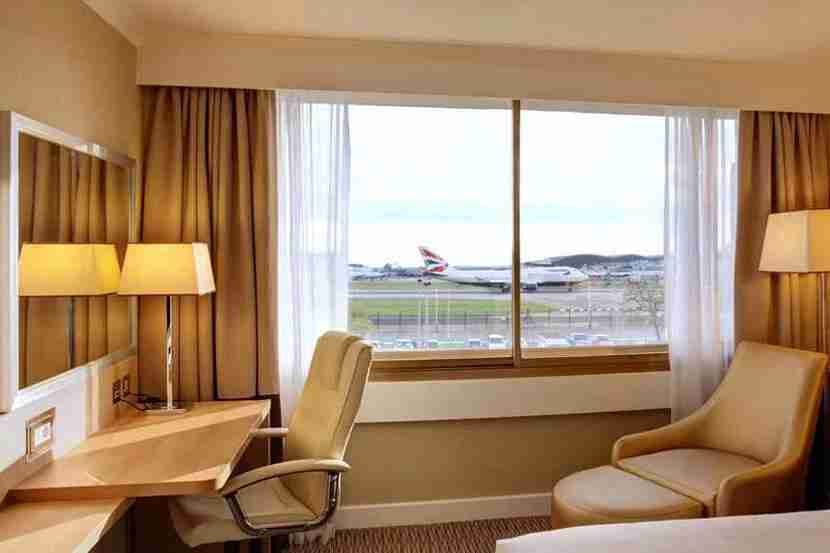Views like this one are a regular site at the hotels around London Heathrow Airport. Image courtesy The Renaissance London Heathrow Airport Hotel.