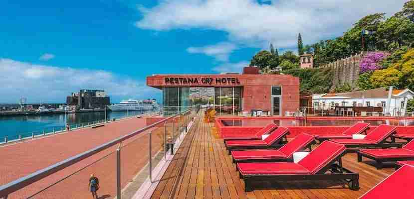Score! In July, Cristiano Ronaldo opened the first of several hotels, this one in his hometown. Image courtesy of Pestana CR7.