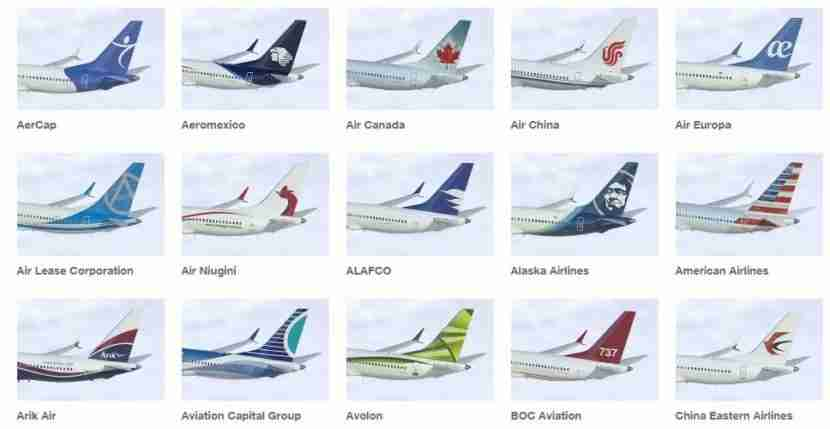 Just the first 15 of Boeing