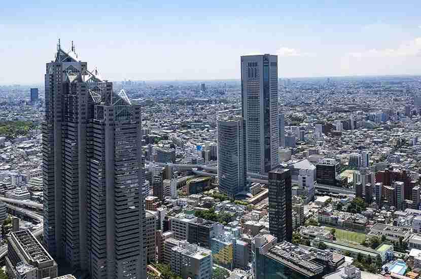 The view from the Tokyo Metropolitan Government building puts the world
