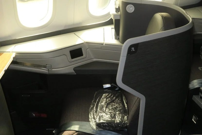 My Seat At Boarding Including A Simple Blanket