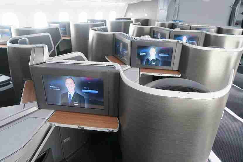 The IFE screens are massive and crisp — especially viewed directly from the seat.