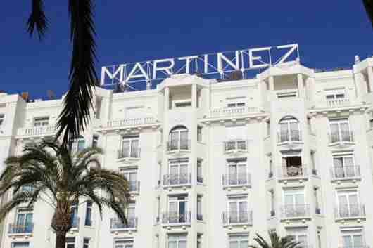 The Grand Hyatt Cannes Hotel Martinez.