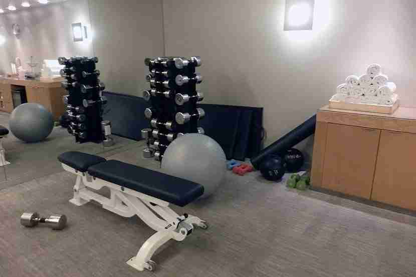 The gym was spacious and seemed relatively new.