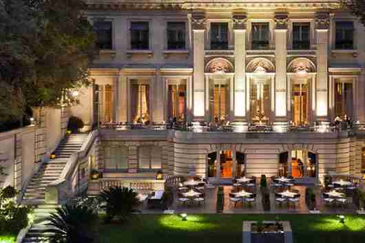 The grand exterior of the Palacio Duhau - Park Hyatt Buenos Aires.