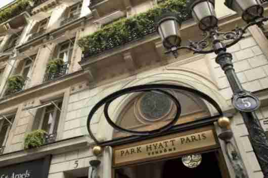 The Park Hyatt Paris-Vendôme, a top-tier Category 7 Hyatt property.