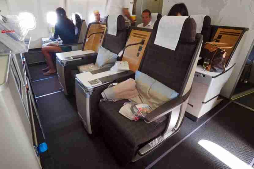 Swiss Air Business Class seats.