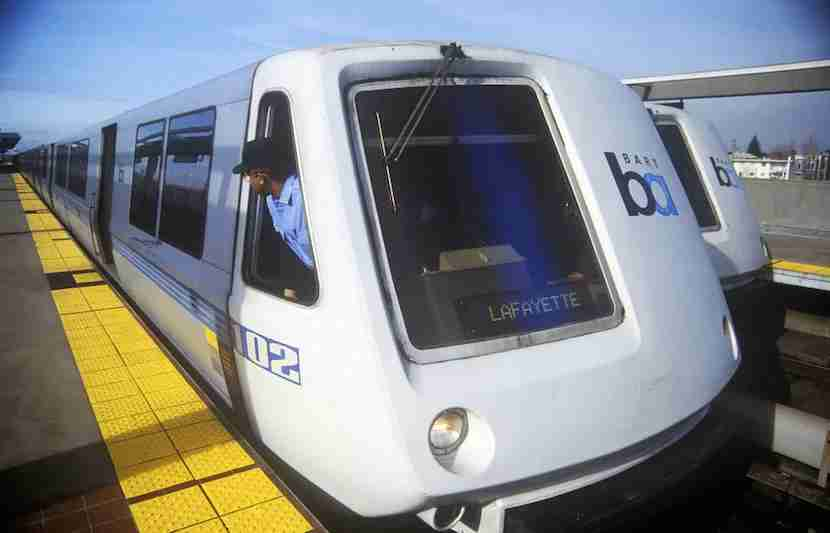 """Bay Area Rapid Transit gets you from A to B, but Uber is still your better bet. Image courtesy of <a href=""""http://www.shutterstock.com/pic-275082716/stock-photo-the-san-francisco-bay-area-rapid-transit-train-commonly-referred-to-as-bart-carries-commuters-to-its-next-destination.html?src=1Cn3hfF2zc93kb_rK-DT6w-1-2"""">Shutterstock</a>."""