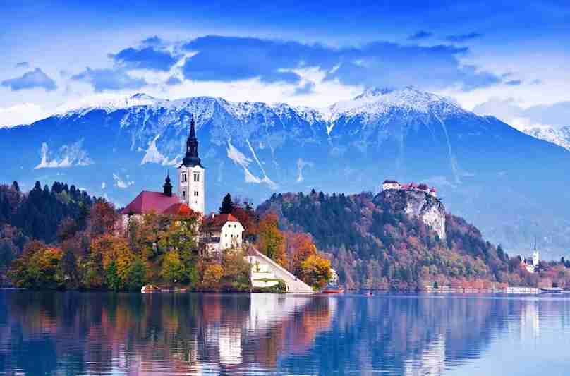 Paddle across the picturesque Lake Bled. Image courtesy of Shutterstock.
