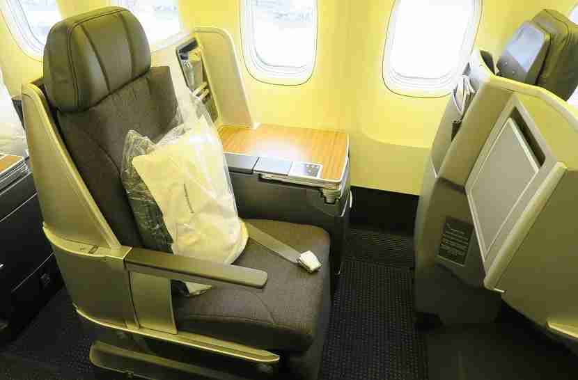 The aisle-side seats are easier to get in and out of.