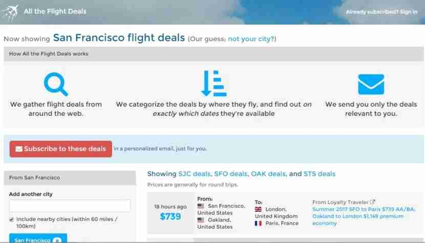 Anyone can visit All The Flight Deals and should be able to easily navigate through the website.