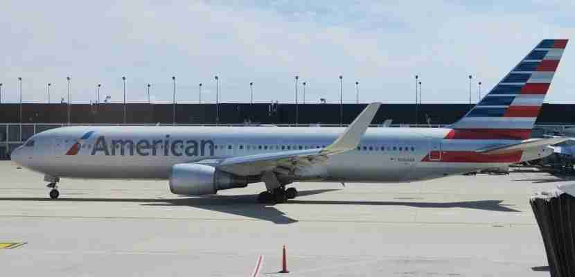 Another American Airlines 767-300 on the tarmac in Chicago