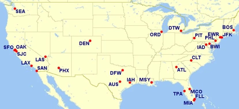 You'll need to depart from one of these airports to take advantage of this 10% discount. Image courtesy of Great Circle Mapper. Read more: http://thepointsguy.com/2015/12/british-airways-visa-10-percent-discount-2016/#ixzz4Qr5bMbQu