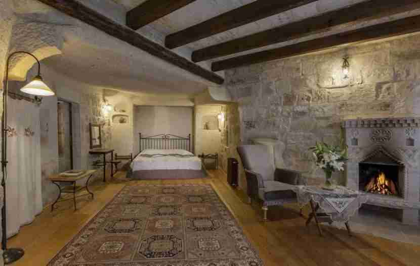 Another of the cave bedrooms beckons. Image courtesy of the Aydlini Cave Hotel.
