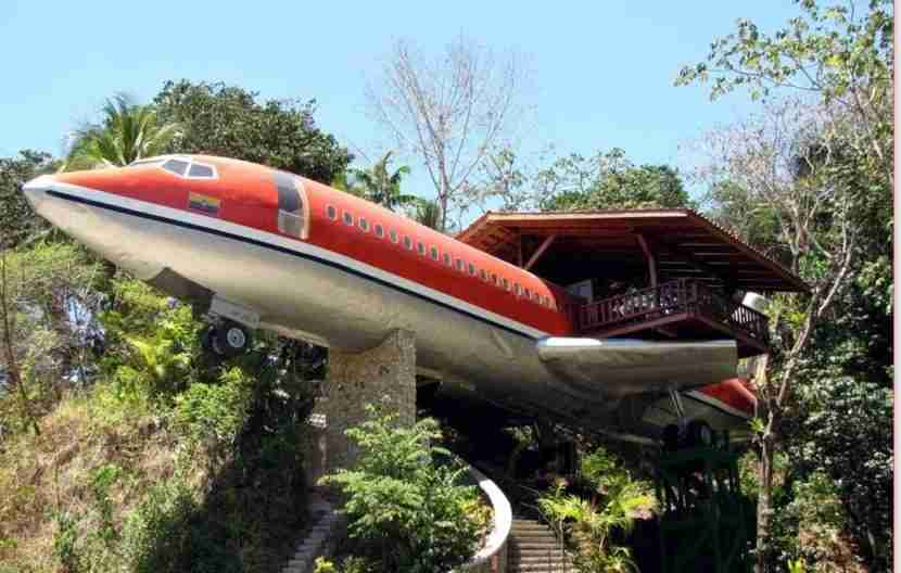 Plane and jungle are a great mix. Image courtesy of the Costa Verde Hotel.