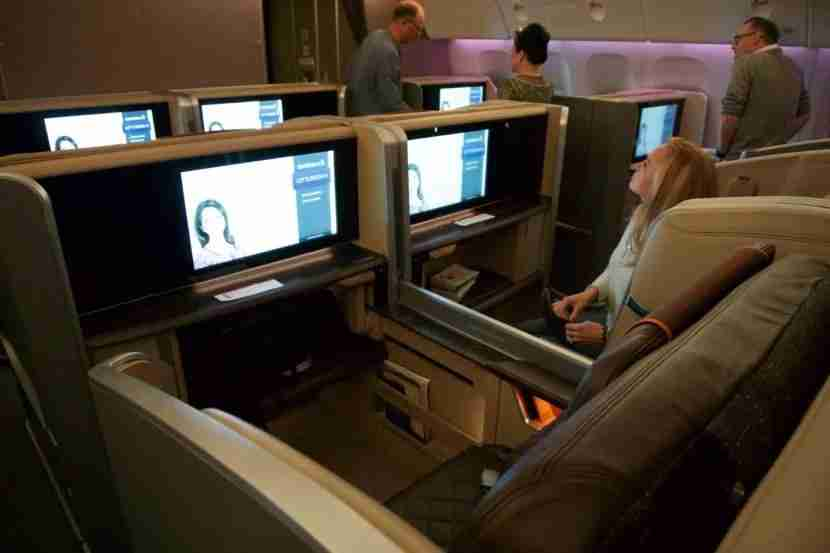 Large HD screen in this updated 777-300ER