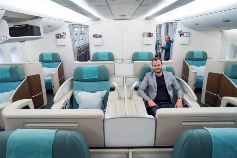 I'm flying Korean Air first class thanks to my Chase Sapphire Reserve sign-up bonus.