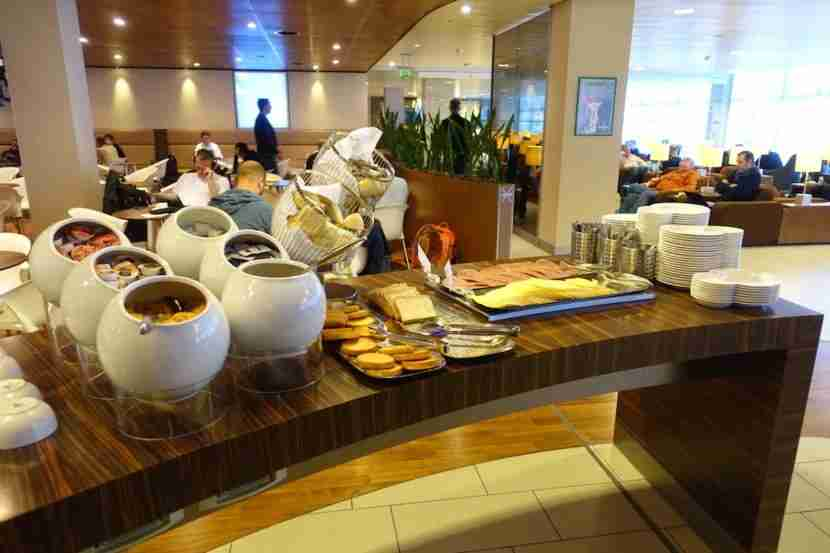 Part of the breakfast buffet.