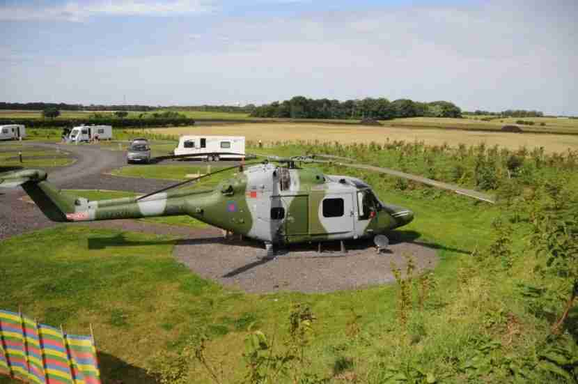 Sleep in this Lynx helicopter. Image courtesy of Ream Hills Caravan Park.