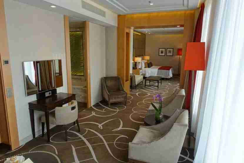 Looking down the length of the suite.