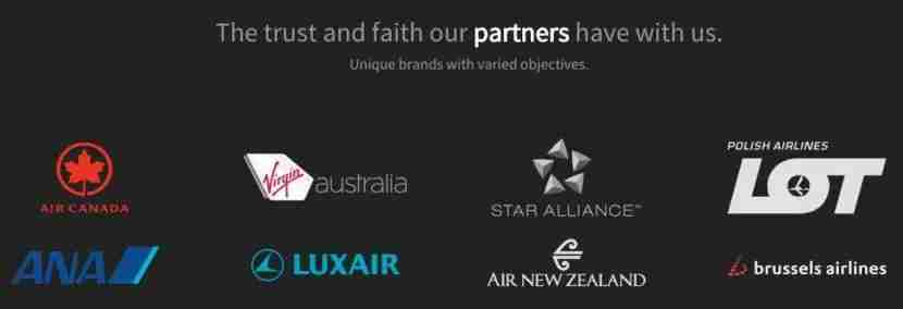 Some of the other airlines using AIMS technology.